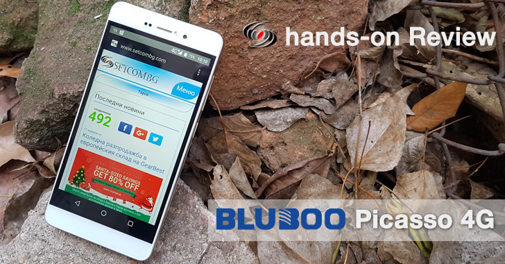 Bluboo Picasso 4G hands-on ревю