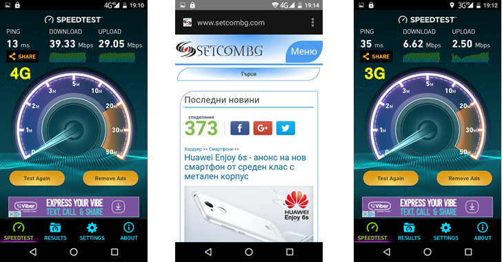 Bluboo Picasso 4G Speed Test