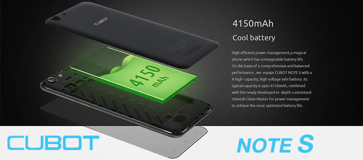 Cubot Note S Battery