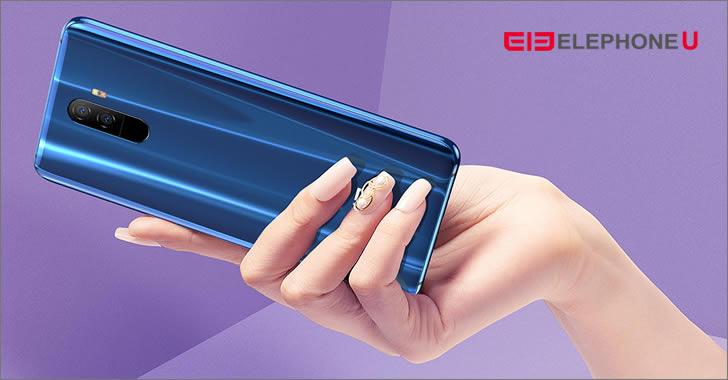 Elephone U blue back