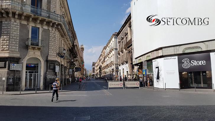 по улиците на Catania