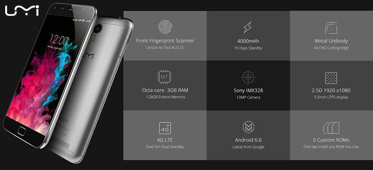 Umi Touch specifications