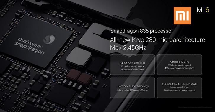Xiaomi Mi6 SnapDragon 835
