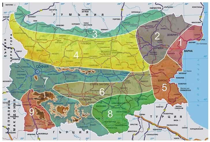 Климатични зони България
