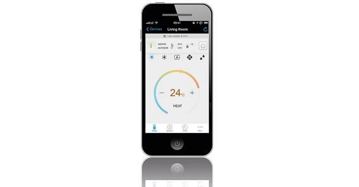 Daikin remote smartphone